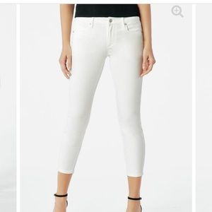 NEW! JustFab Cool Crop Jeans-White Size 31